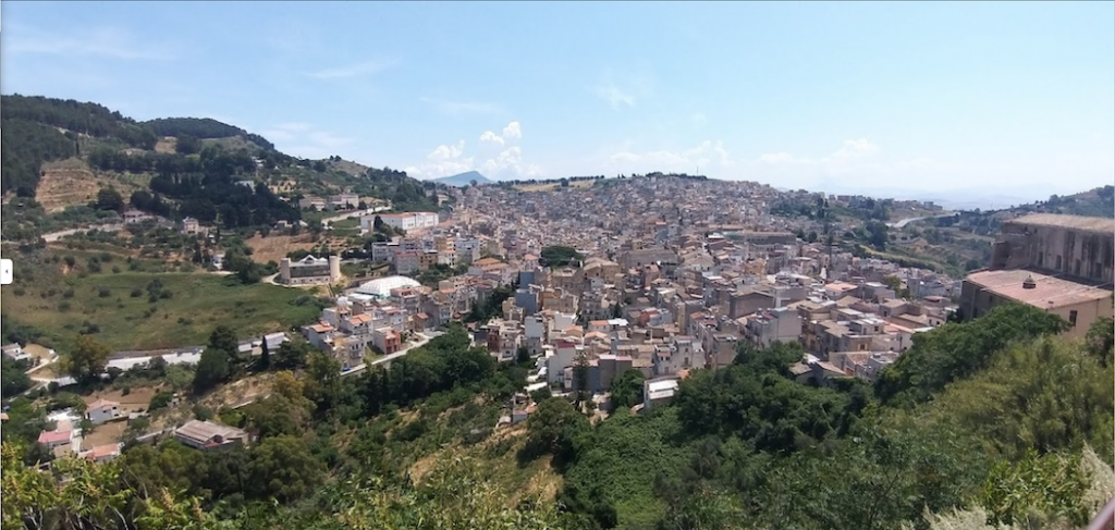 The town of Calatafimi Segesta